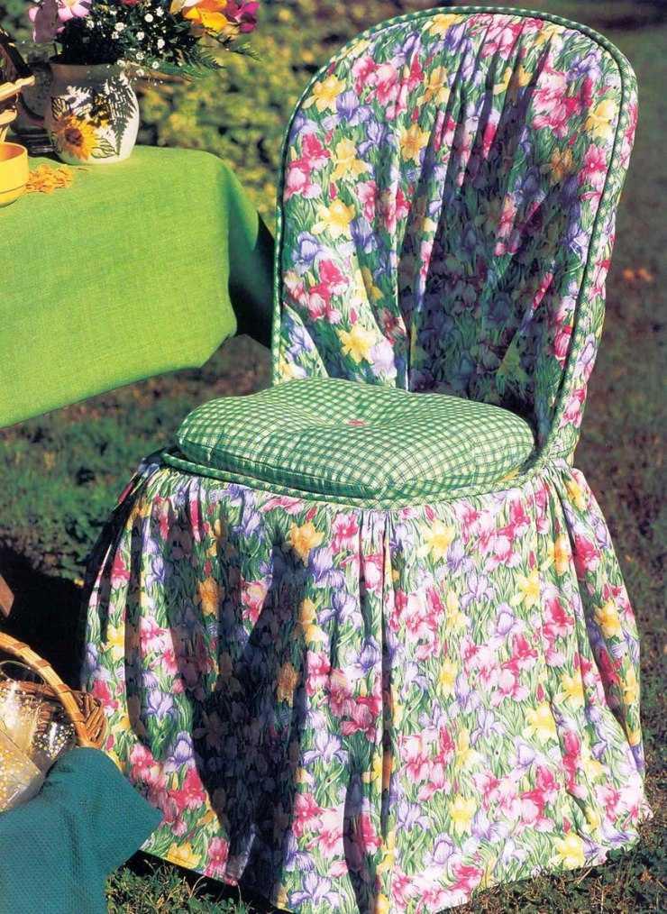 Чехлы на стулья своими руками - способы пошива, пошаговые инструкции и примеры создания чехлов (120 фото)