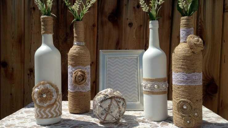 Декор бутылок своими руками: вдохновляющие самоделки от мастеров и идеи для начинающих (видео + 105 фото)