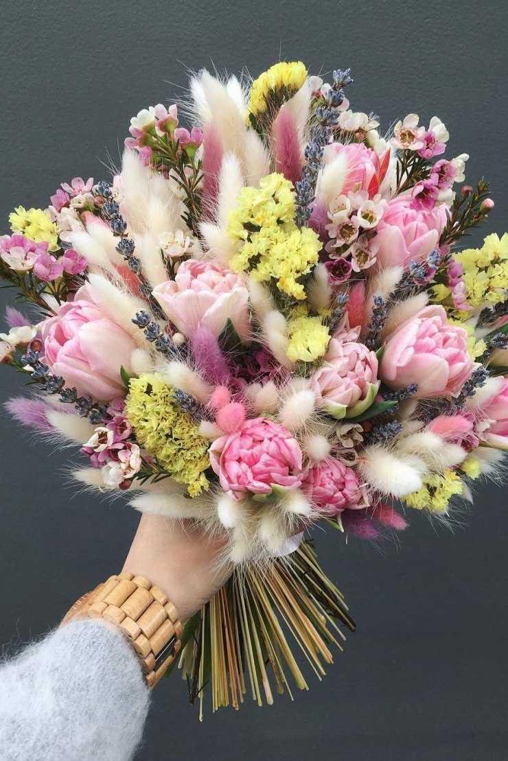 букет фото цветы необычные началом