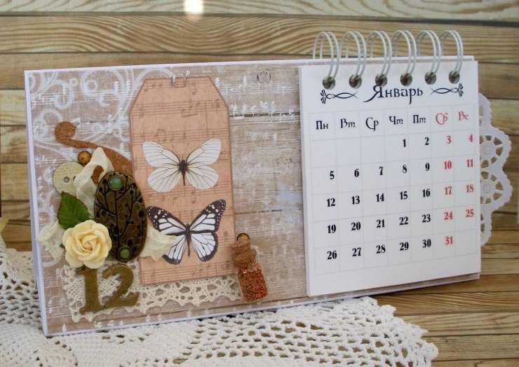 Как сделать календарь своими руками — подробная инструкция как своими руками сделать настольный или настенный календарь (110 фото   видео)