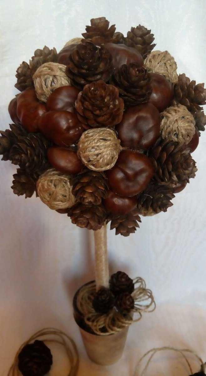 поделка дерево из природного материала на тему осень просить мужику