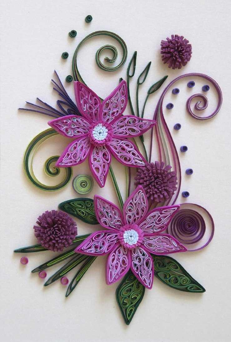 квиллинг открытка для начинающих пошагово с фото из бумаги цветы вкусный свинины