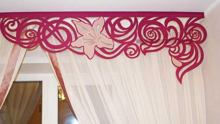 Ламбрекены своими руками - как сшить красивые и стильные жесткие и ажурные ламбрекены (115 фото)