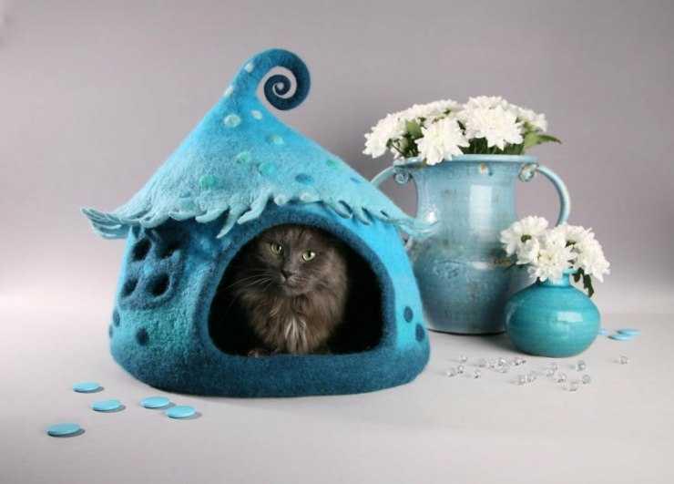 Лежанка для кошки своими руками: виды, выкройки и пошаговое описание изготовления лежака (125 фото)
