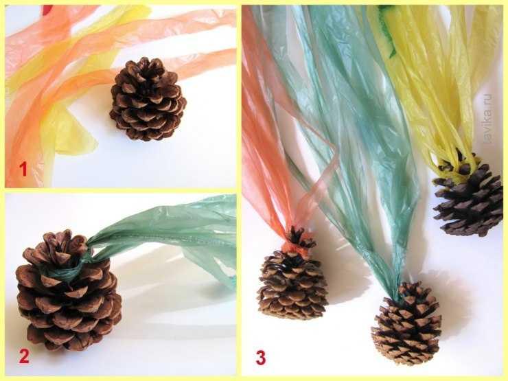 Лучшие поделки из шишек: пошаговая инструкция и подробное описание как сделать пластилиновую шишку (105 фото)
