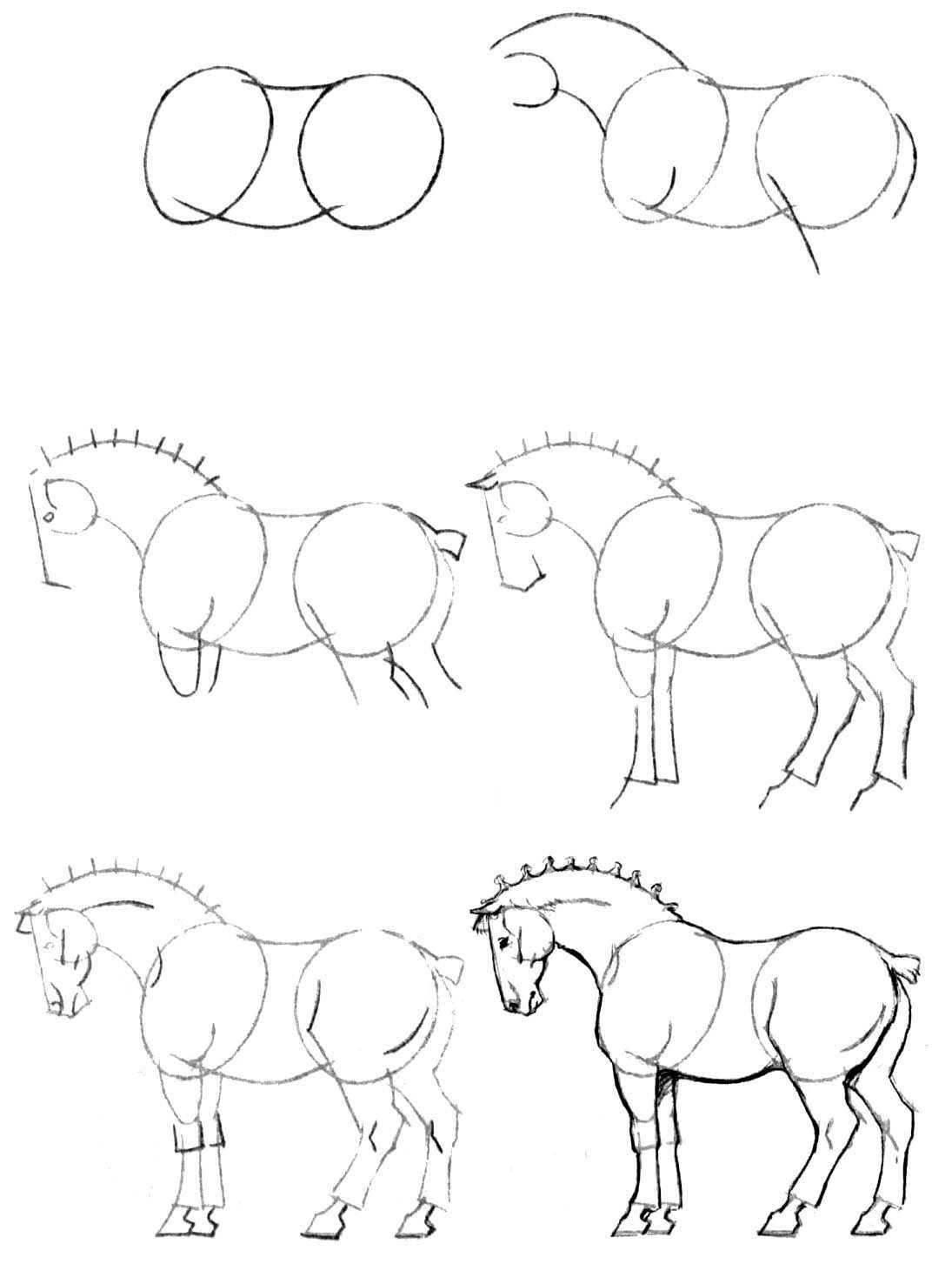 Поэтапные картинки для срисовывания