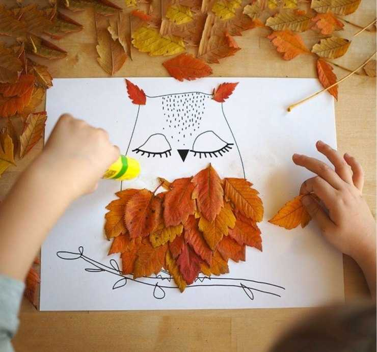 Осенние поделки из листьев: мастер-класс изготовления и описание способов как сделать простые и сложные поделки с использованием листьев (135 фото)