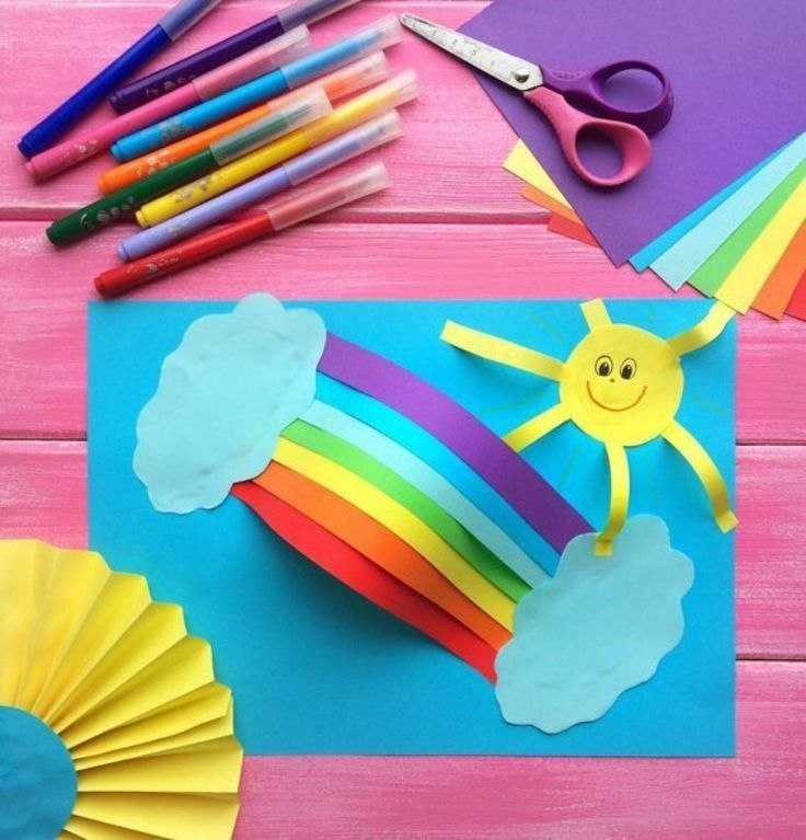 поделки с детьми из цветной бумаги и картона