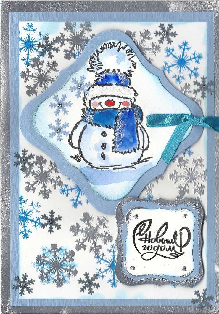 открытка снеговик к новому году котлеты картофельным