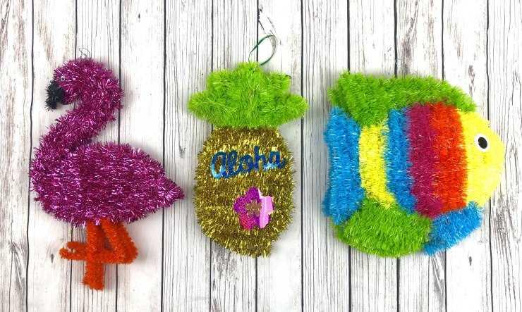 Поделки из мишуры: как своими руками сделать праздничные игрушки и украшения (125 фото + видео)