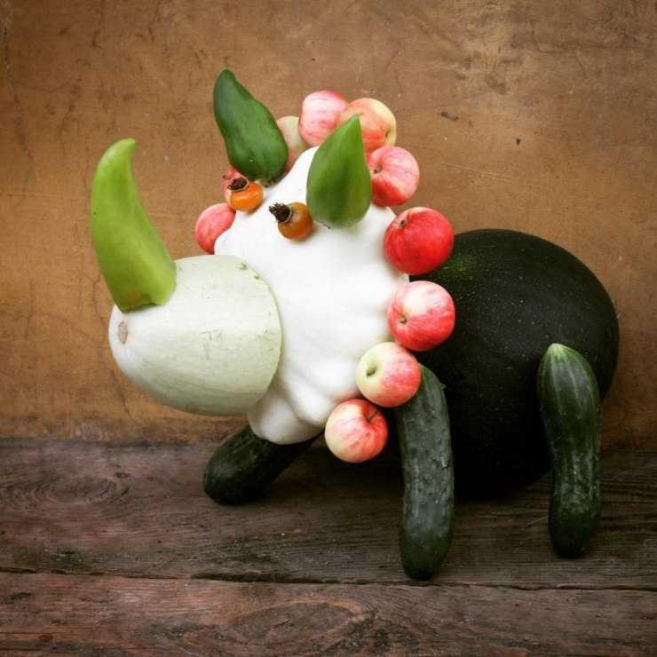 Поделки из овощей и фруктов своими руками - 125 фото осенних идей и лучшие варианты оформления поделок