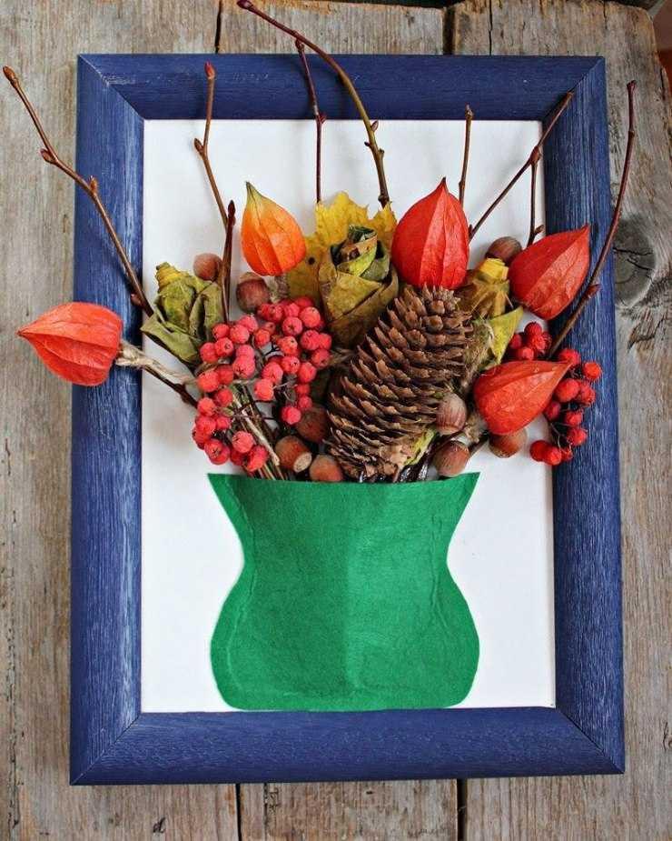 картинки поделки из природных материалов своими руками на тему осень