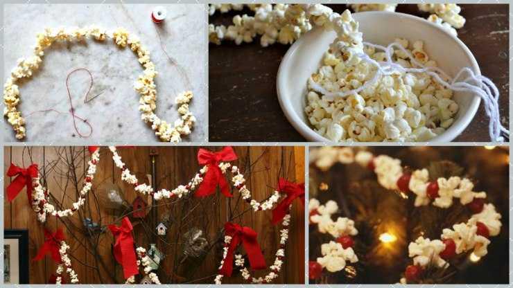 Сделать гирлянду своими руками - 125 фото и видео мастер-класс создания новогоднего украшения