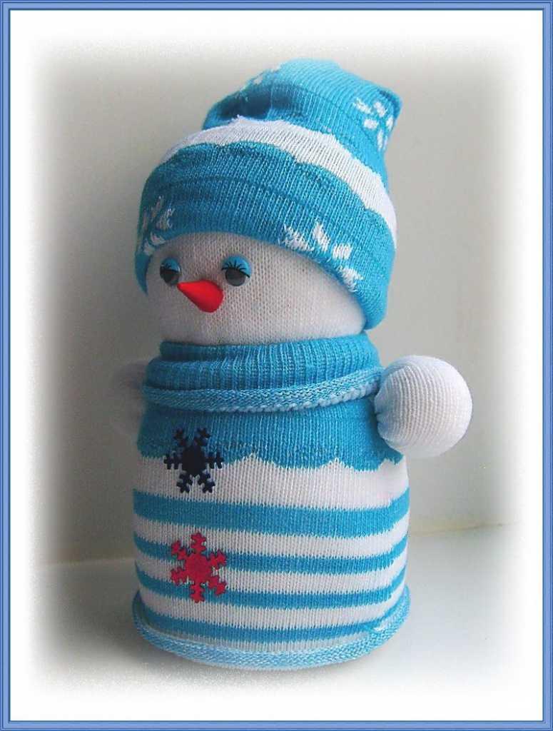 как сделать из носка снеговика фото хотя