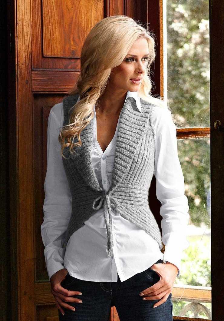 Вязание спицами женского жилета: простые схемы, лучшие модели и советы как связать теплый жилет (115 фото)